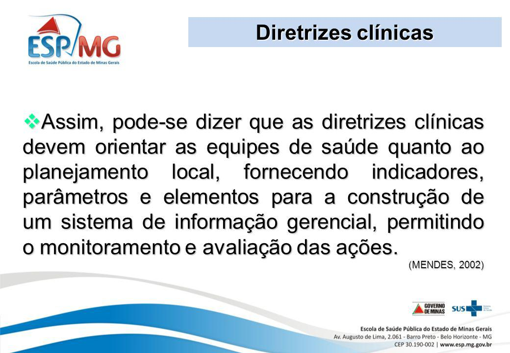 Diretrizes clínicas