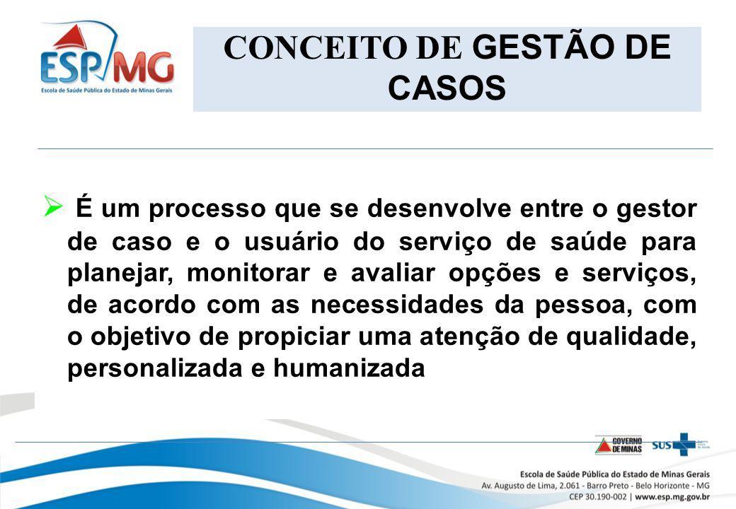 CONCEITO DE GESTÃO DE CASOS