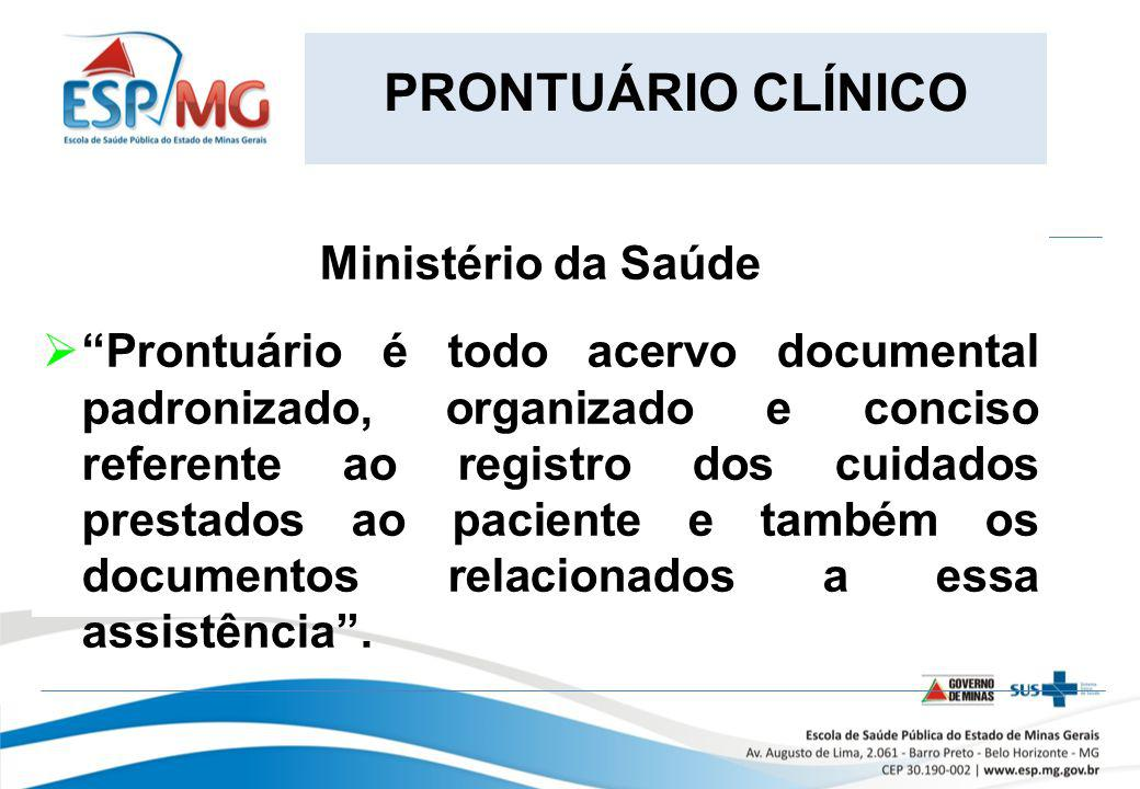 PRONTUÁRIO CLÍNICO Ministério da Saúde.