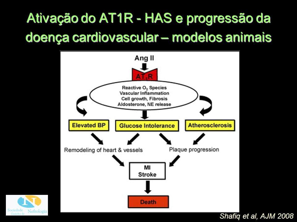 Ativação do AT1R - HAS e progressão da doença cardiovascular – modelos animais