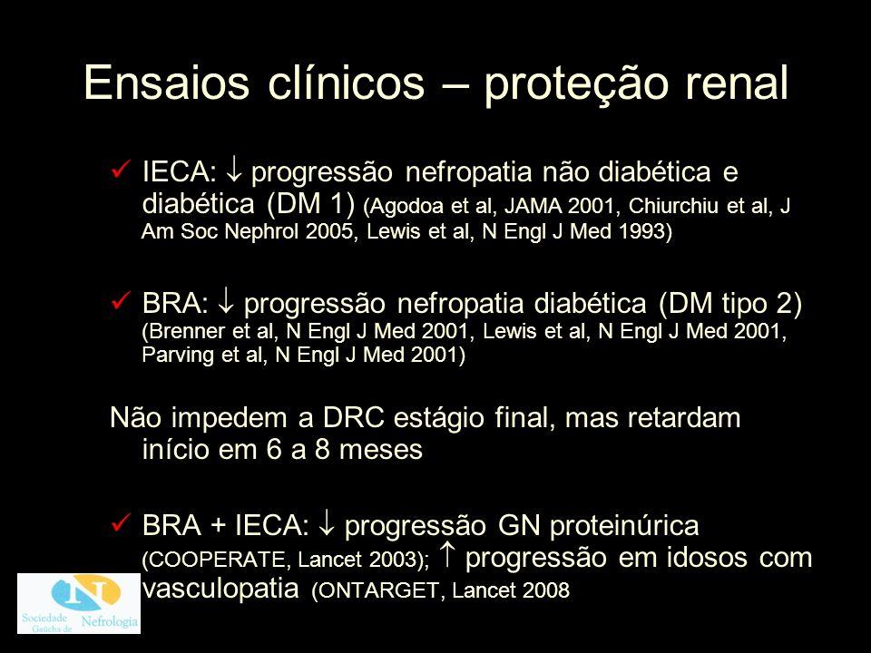Ensaios clínicos – proteção renal