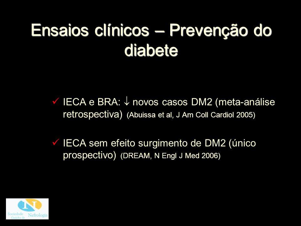 Ensaios clínicos – Prevenção do diabete