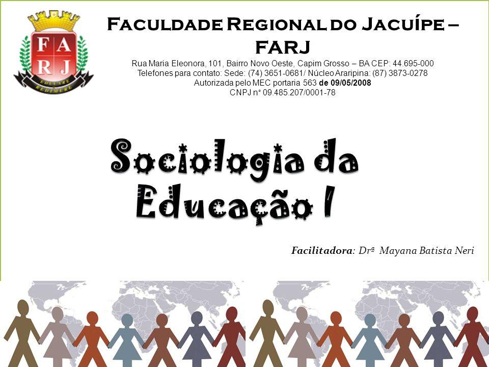 Sociologia da Educação I