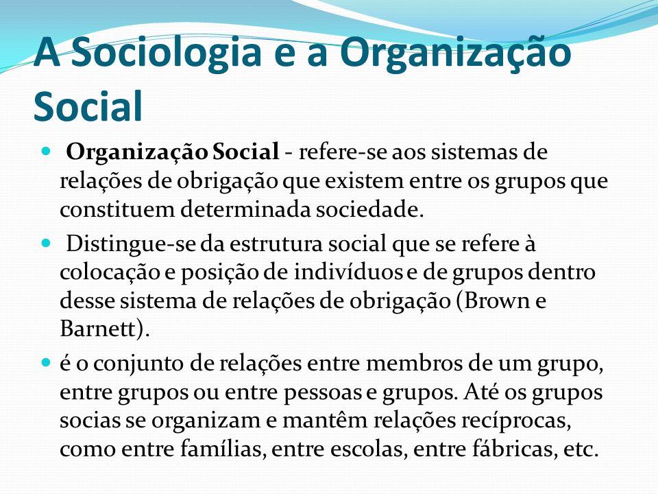 A Sociologia e a Organização Social