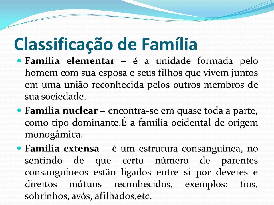 Classificação de Família