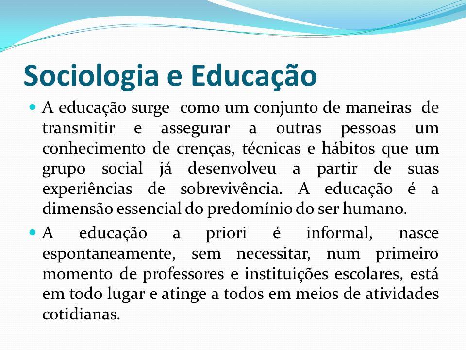 Sociologia e Educação