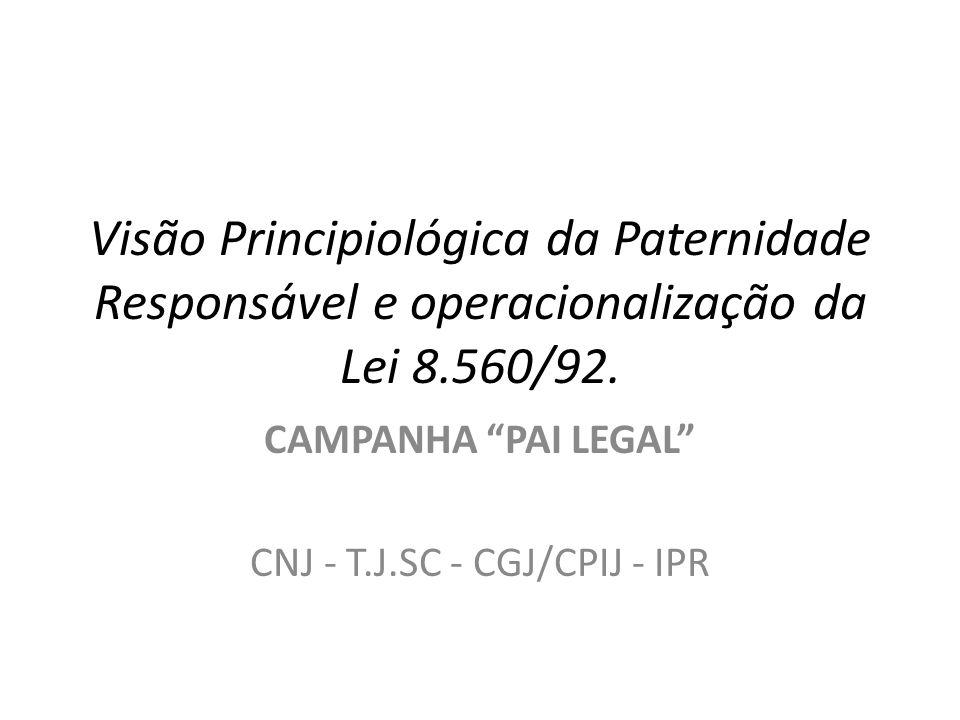CAMPANHA PAI LEGAL CNJ - T.J.SC - CGJ/CPIJ - IPR