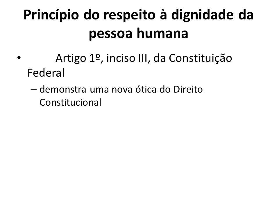 Princípio do respeito à dignidade da pessoa humana