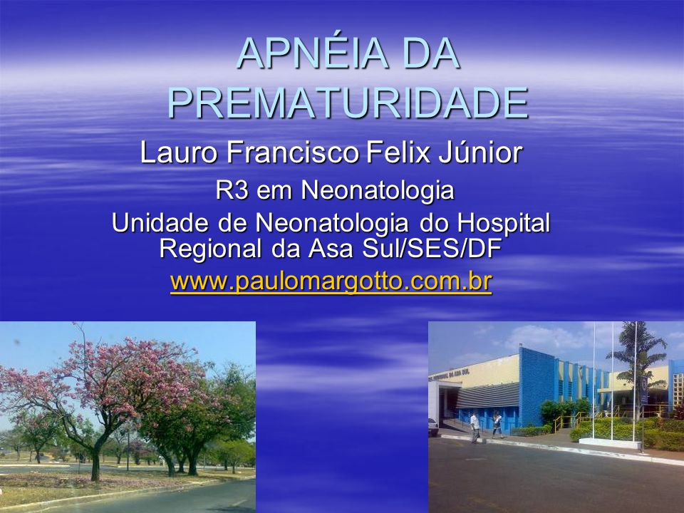 APNÉIA DA PREMATURIDADE