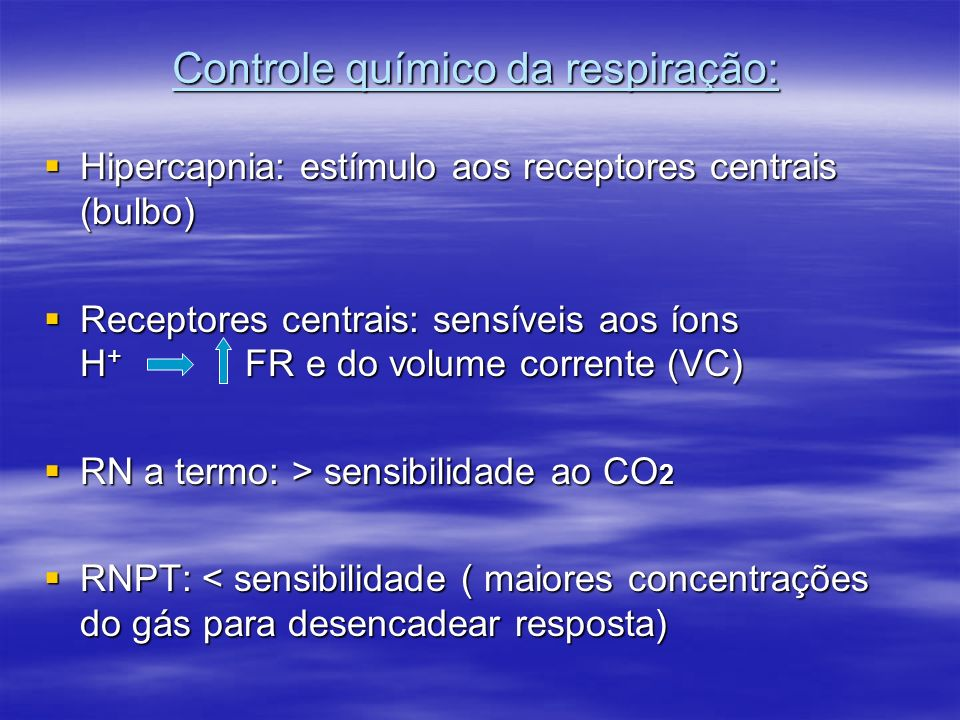 Controle químico da respiração: