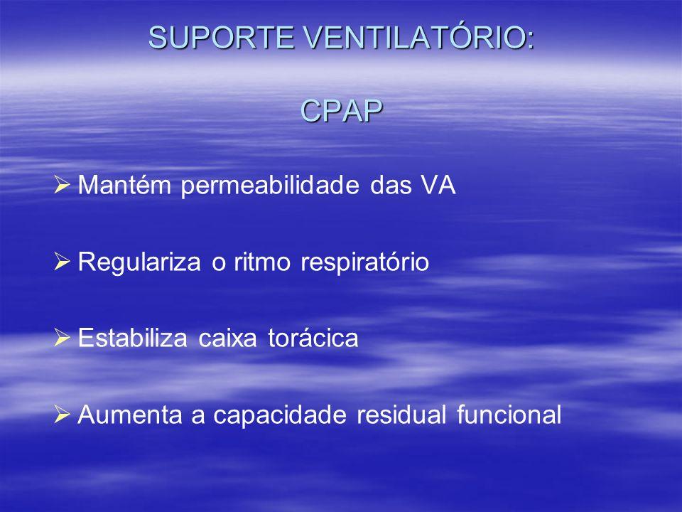 SUPORTE VENTILATÓRIO: CPAP