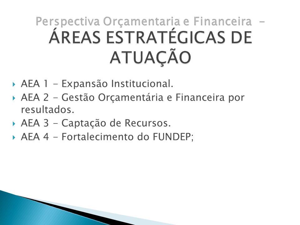 Perspectiva Orçamentaria e Financeira - ÁREAS ESTRATÉGICAS DE ATUAÇÃO