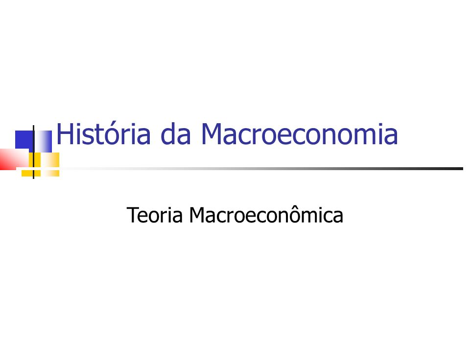 Teoria Macroeconômica