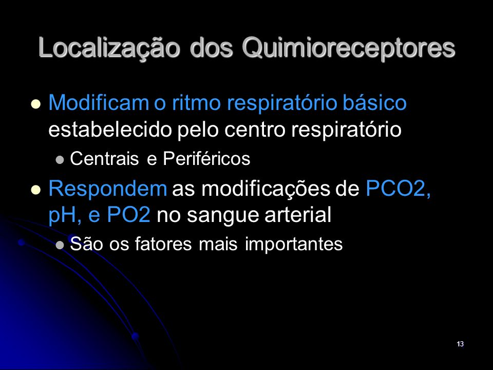 Localização dos Quimioreceptores
