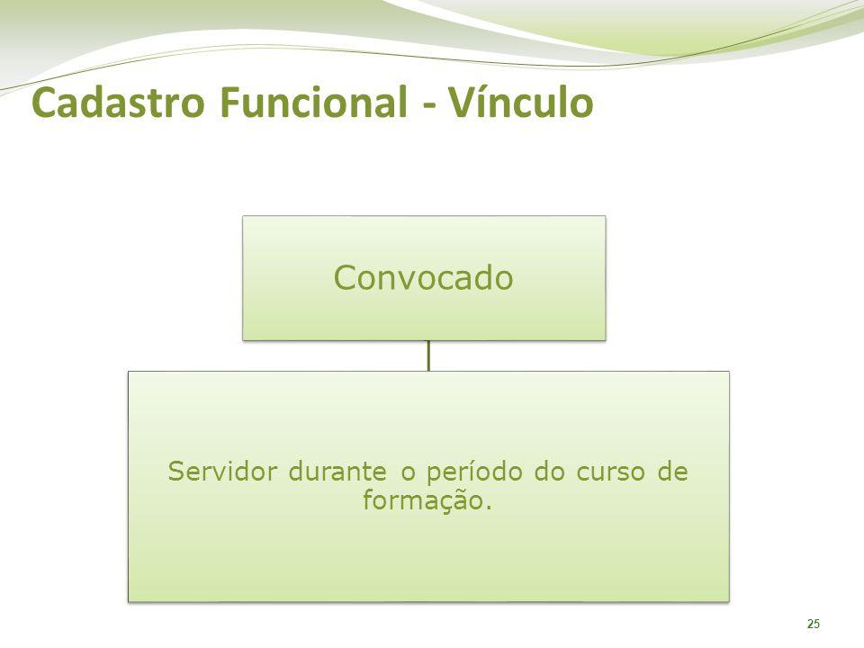 Cadastro Funcional - Vínculo