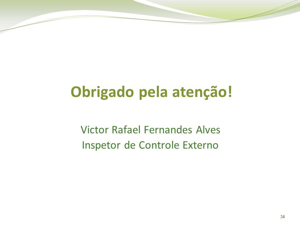 Obrigado pela atenção! Victor Rafael Fernandes Alves