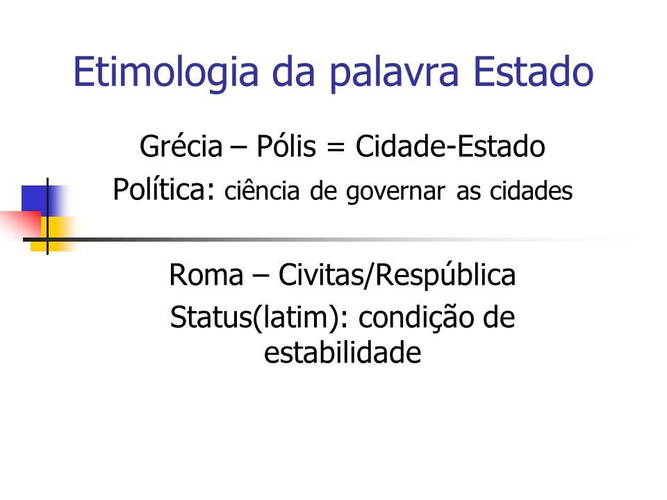 Etimologia da palavra Estado