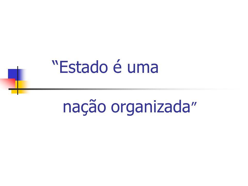 Estado é uma nação organizada
