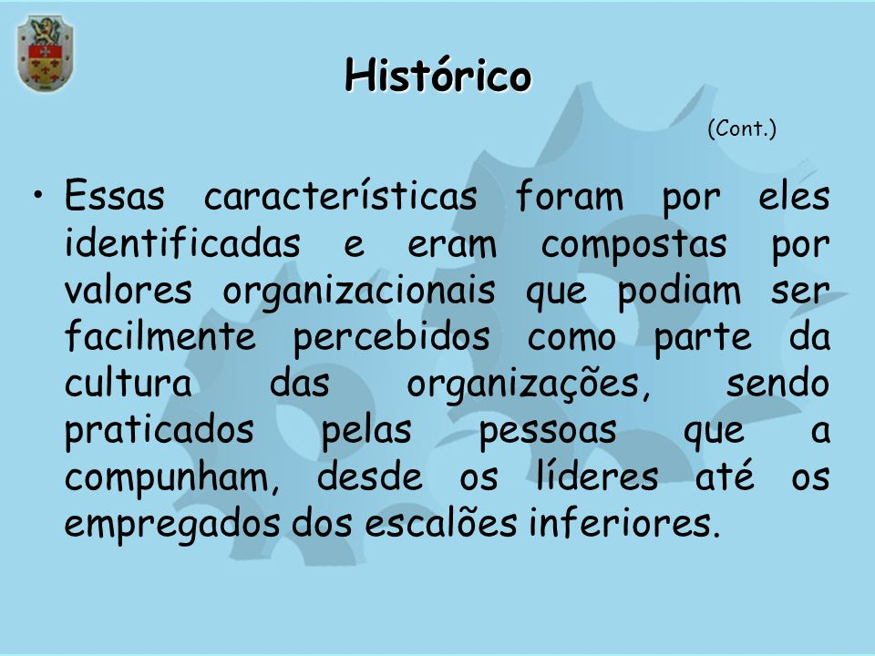 Histórico(Cont.)