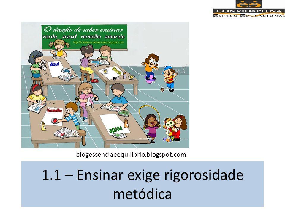 1.1 – Ensinar exige rigorosidade metódica