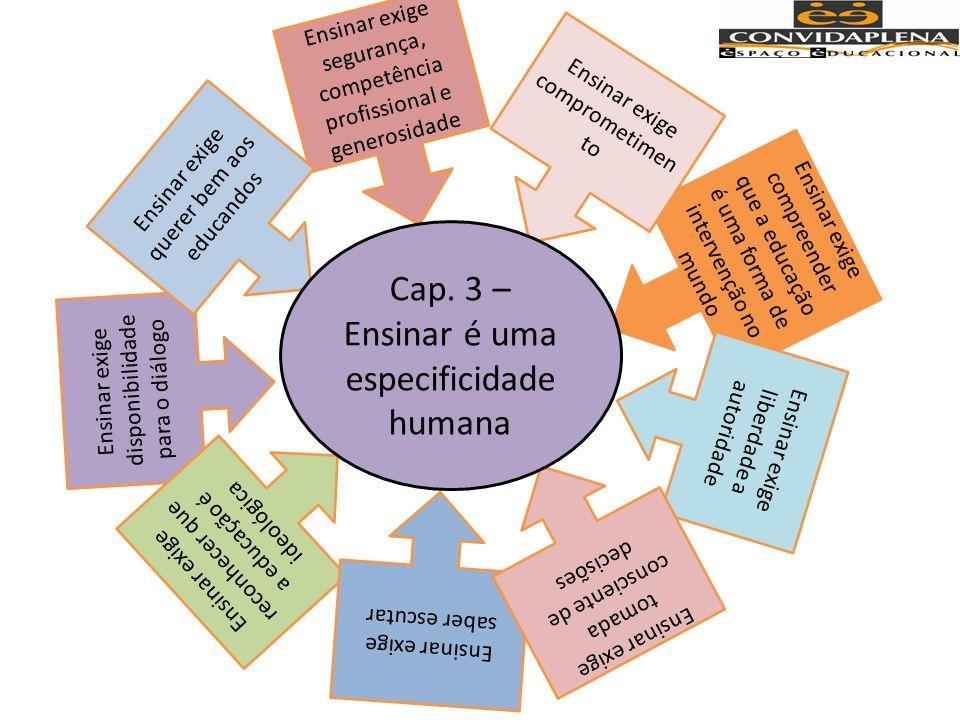 Cap. 3 – Ensinar é uma especificidade humana