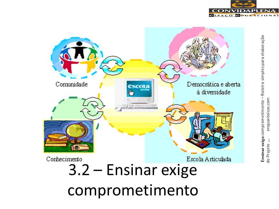 3.2 – Ensinar exige comprometimento