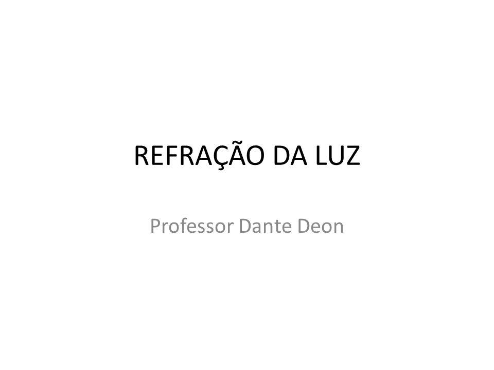REFRAÇÃO DA LUZ Professor Dante Deon