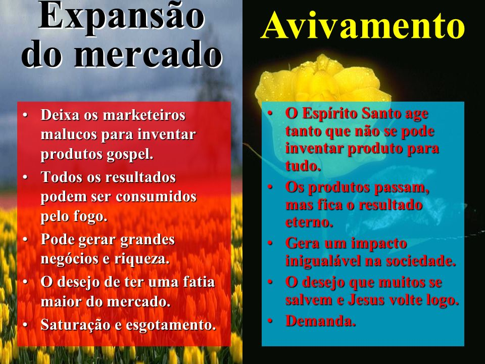 Expansão do mercado Avivamento