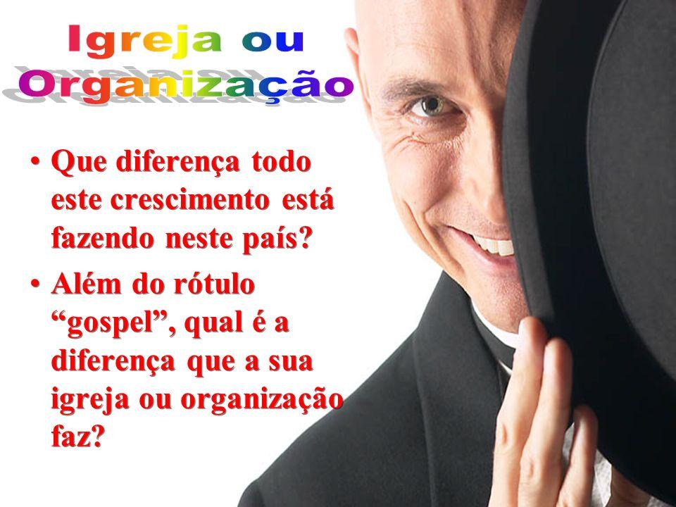 Igreja ou Organização. Que diferença todo este crescimento está fazendo neste país