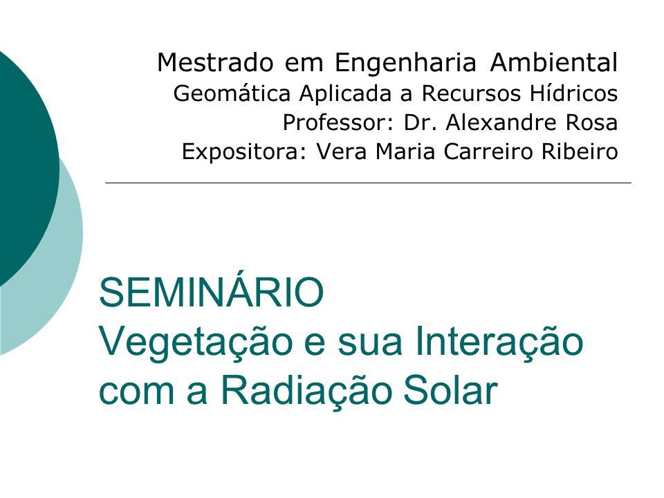 SEMINÁRIO Vegetação e sua Interação com a Radiação Solar