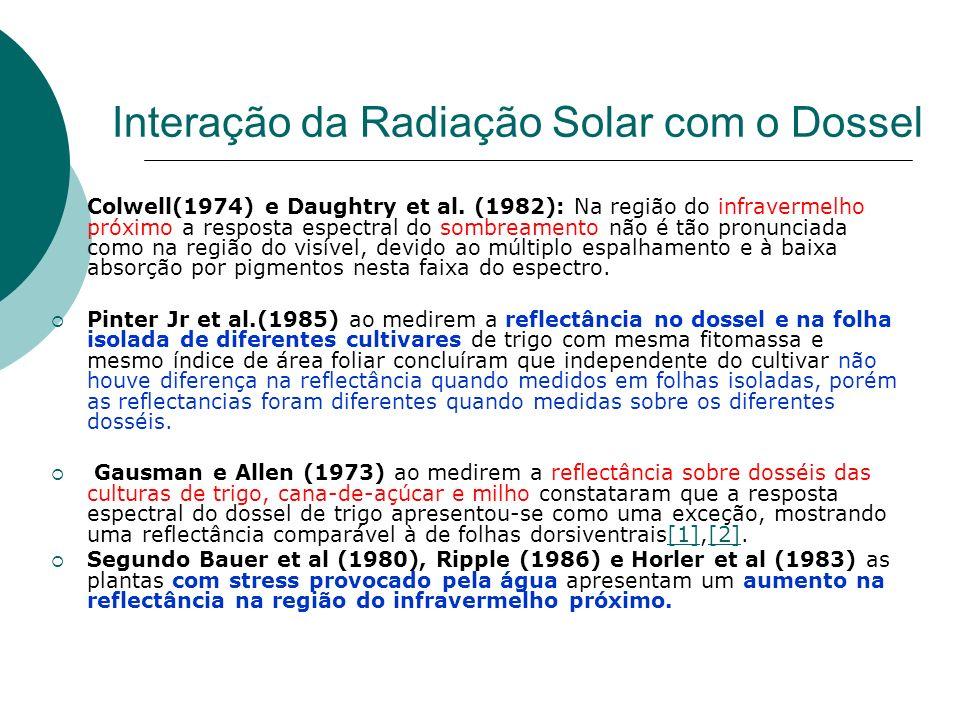 Interação da Radiação Solar com o Dossel