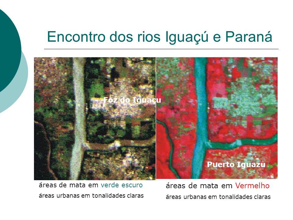 Encontro dos rios Iguaçú e Paraná