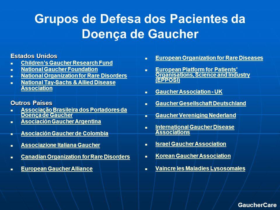 Grupos de Defesa dos Pacientes da Doença de Gaucher