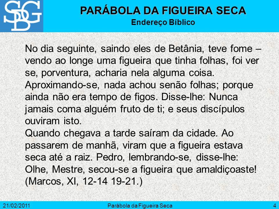 PARÁBOLA DA FIGUEIRA SECA