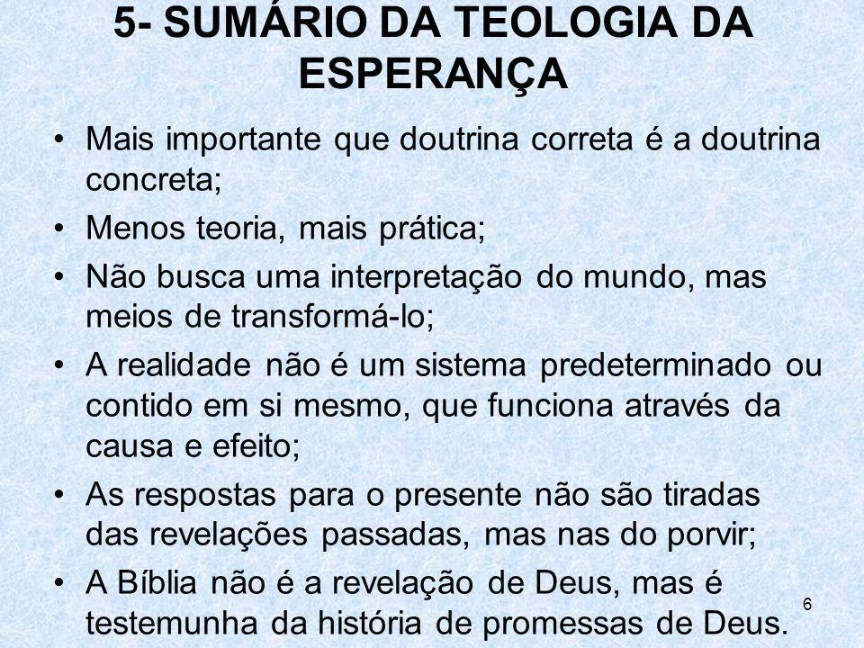 5- SUMÁRIO DA TEOLOGIA DA ESPERANÇA
