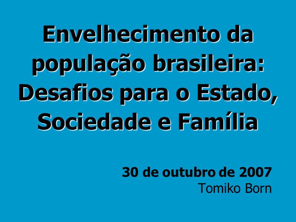 Envelhecimento da população brasileira: Desafios para o Estado, Sociedade e Família