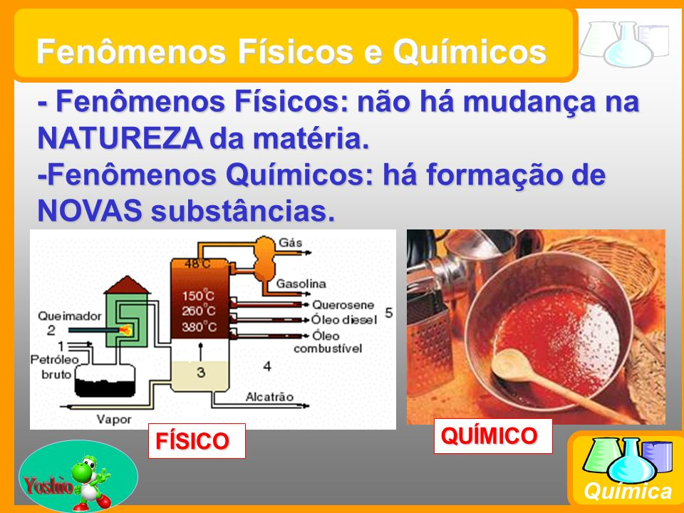 Fenômenos Físicos e Químicos