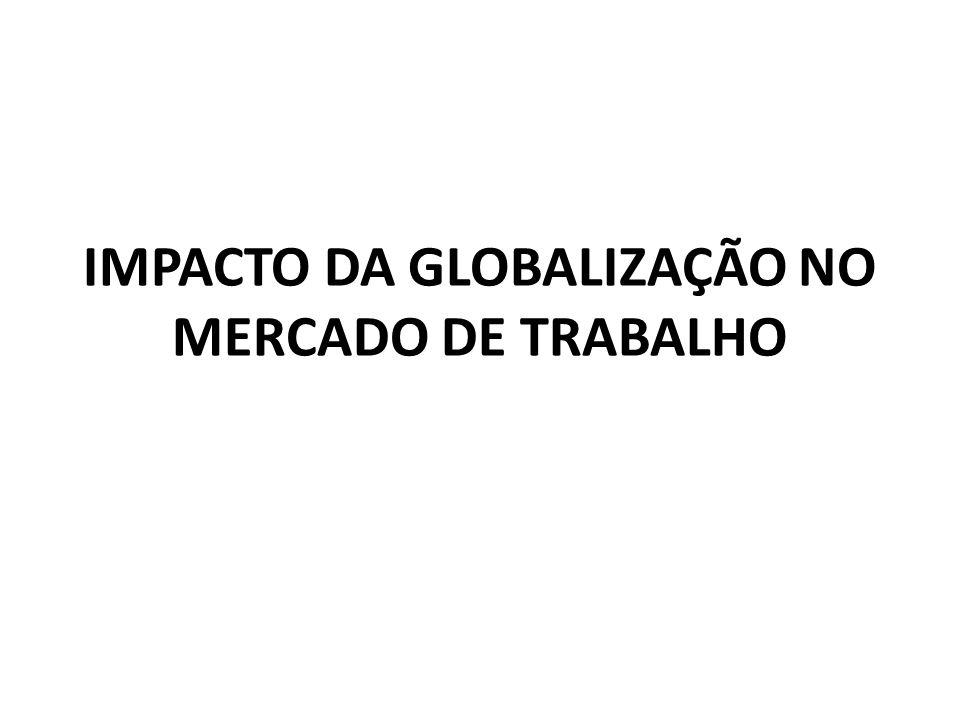 IMPACTO DA GLOBALIZAÇÃO NO MERCADO DE TRABALHO