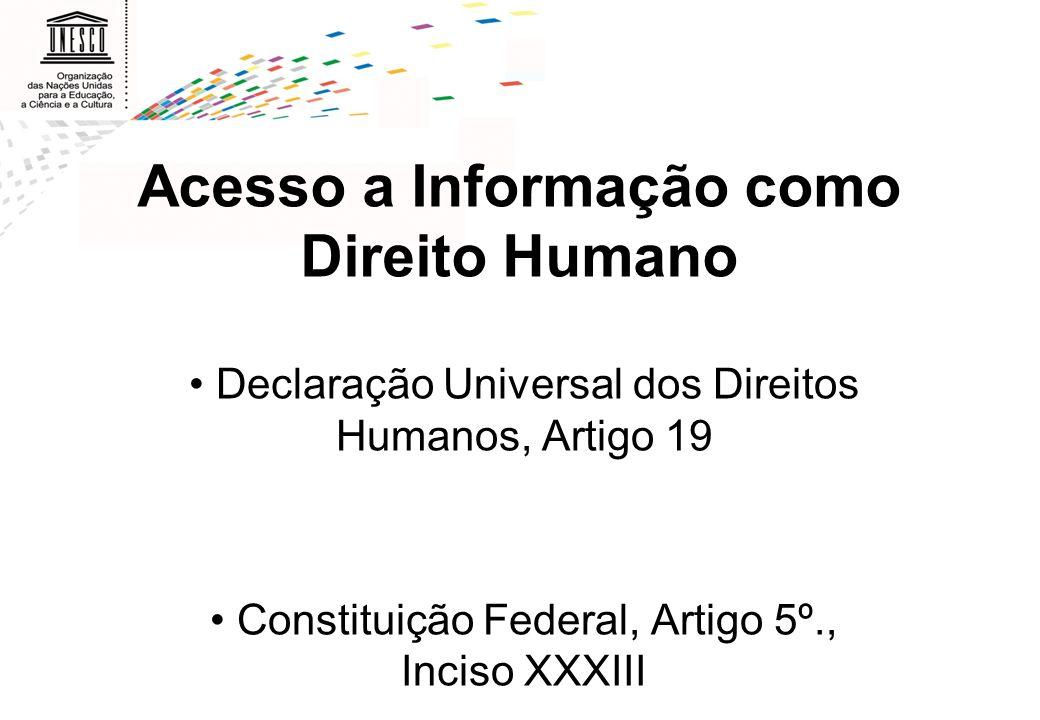 Acesso a Informação como Direito Humano