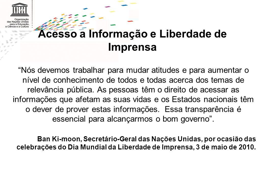 Acesso a Informação e Liberdade de Imprensa