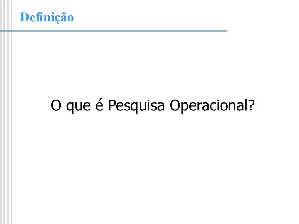 O que é Pesquisa Operacional
