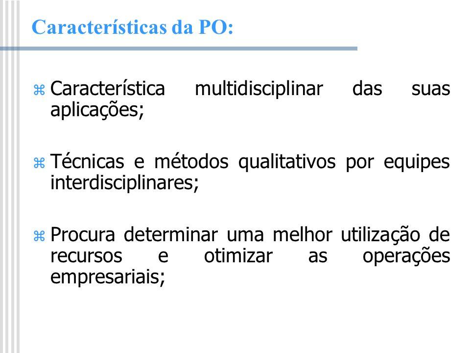 Características da PO: