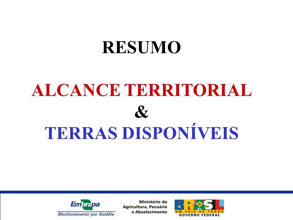 RESUMO ALCANCE TERRITORIAL & TERRAS DISPONÍVEIS