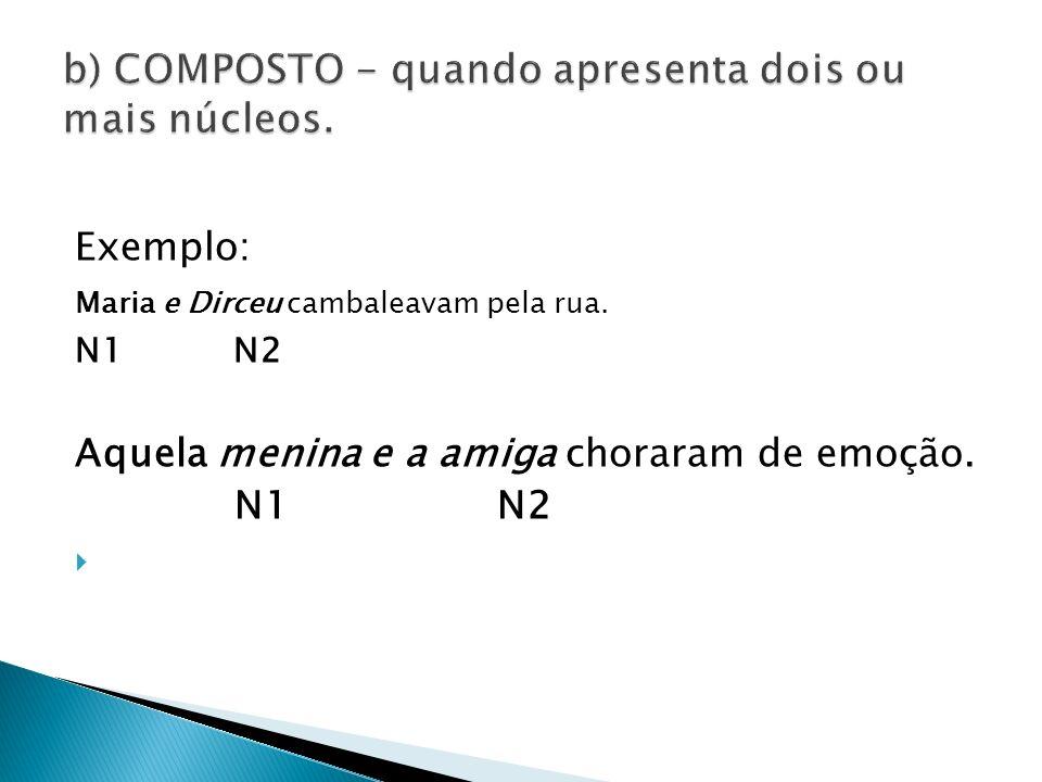 b) COMPOSTO - quando apresenta dois ou mais núcleos.