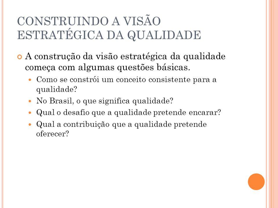 CONSTRUINDO A VISÃO ESTRATÉGICA DA QUALIDADE