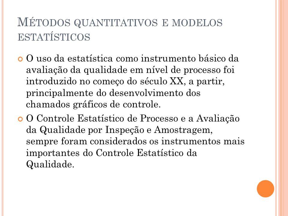 Métodos quantitativos e modelos estatísticos