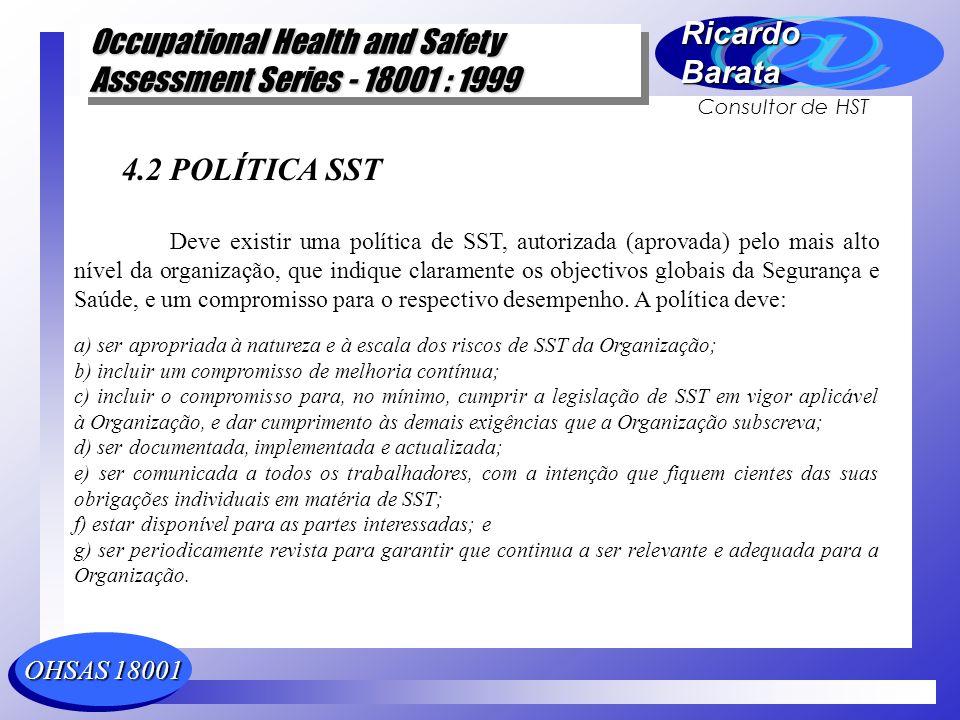 4.2 POLÍTICA SST
