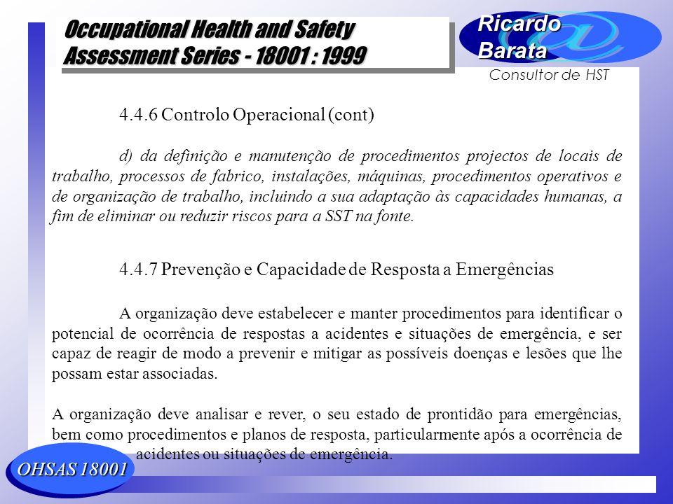 4.4.6 Controlo Operacional (cont)