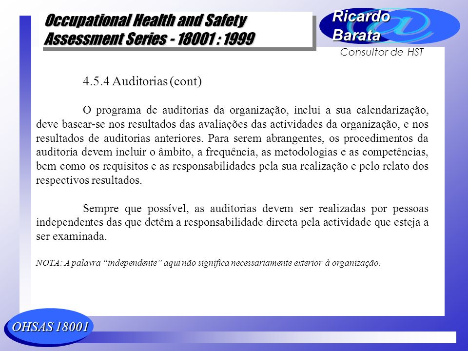 4.5.4 Auditorias (cont)