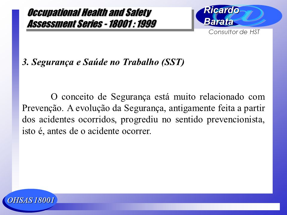 3. Segurança e Saúde no Trabalho (SST)